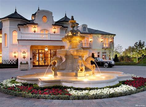 luxury estates accessories beautiful cock love french chateau style driveway with fountain luxury