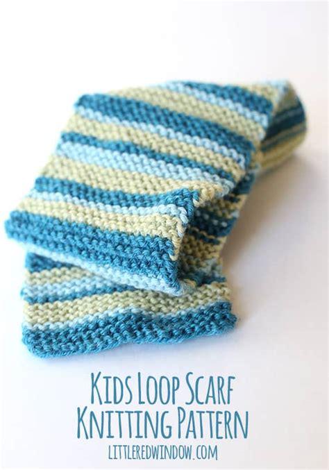 knitting pattern loopy scarf kids loop scarf knitting pattern little red window