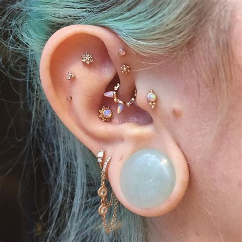 piercing tattoo 60 trendy types of ear piercings and combinations choose