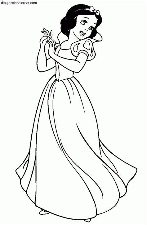 imagenes para pintar blancanieves dibujos de blancanieves princesa disney para colorear