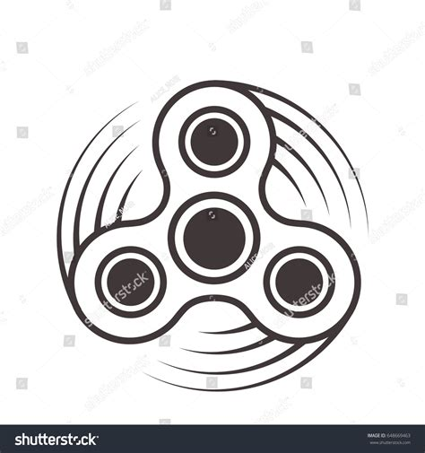 fidget spinner and other amazing stress relieving objects books fidget spinner icon stress relief stock vector