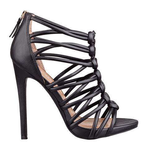 gladiator sandals nine west nine west knotty gladiator sandals in black black