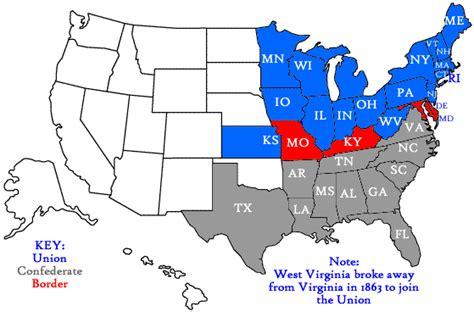 and south civil war map maps american civil war issac
