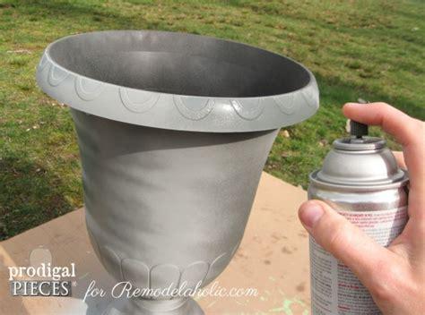 faux finish spray paint remodelaholic diy faux zinc finish tutorial