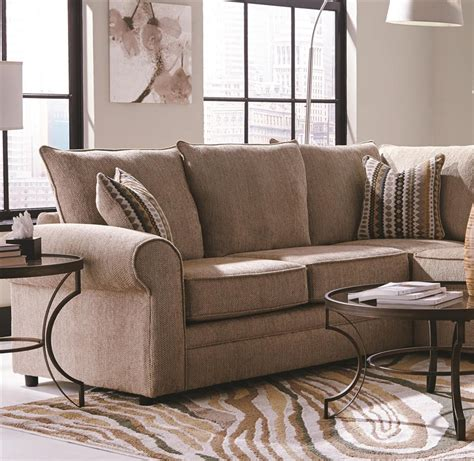 Chenille Sofa 816 by Westwood 4 Chenille Sectional By Coaster 501001
