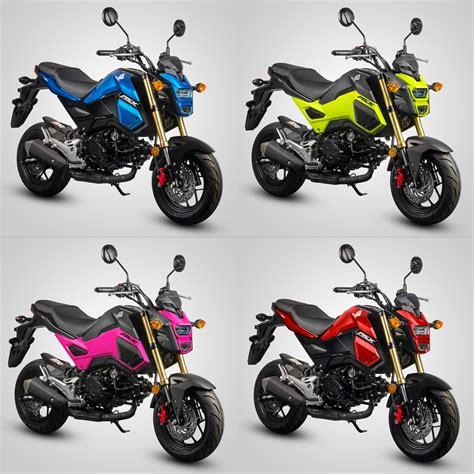 new honda msx bikes honda msx125 receives four new colours autofreaks