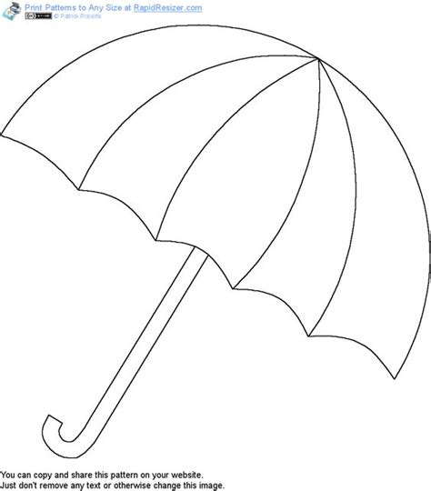free printable umbrella template search design and google on pinterest