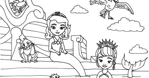 sofia the first coloring pages floating palace sofia the