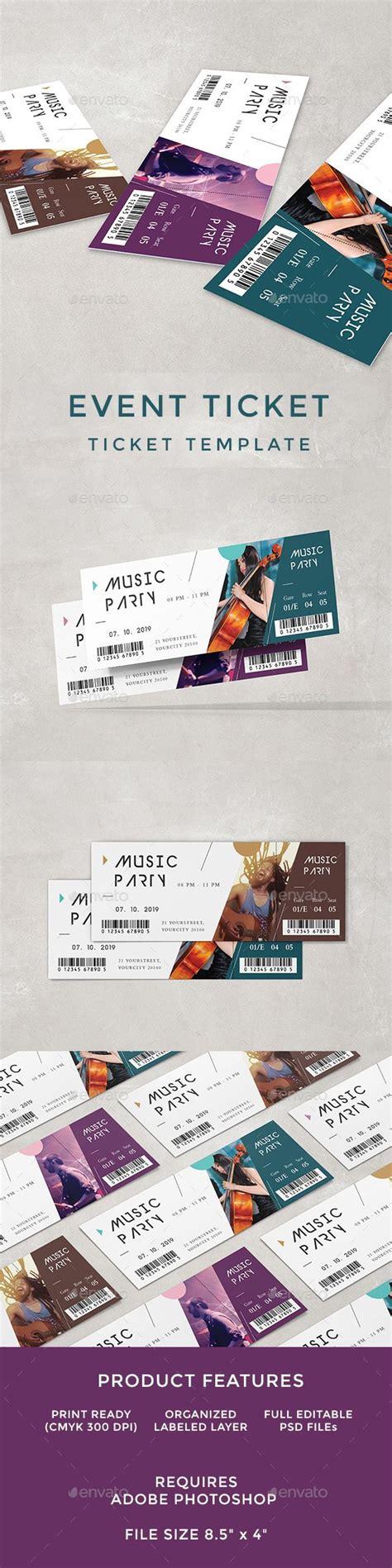 Les 232 Meilleures Images Du Tableau Ticket Templates Sur Pinterest Event Ticket Template Illustrator