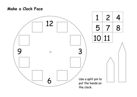 clock face template by bagpussfan teaching resources tes