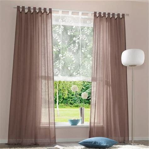 weiße gardinen mit schlaufen 1 st gardine vorhang store 140 x 175 schoko braun