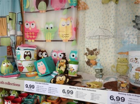 Walmart Owl Bathroom Accessories Decorating On A Budget With S Linens Review