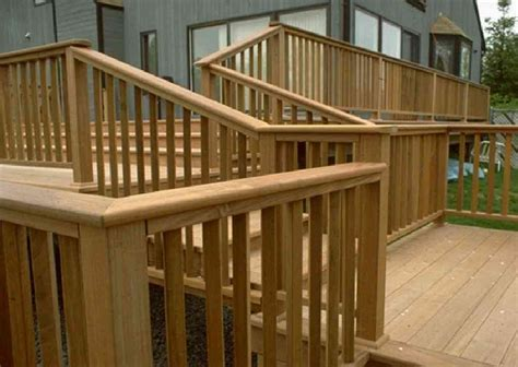 Decking Banister by Patio Deck Railing Design 2012