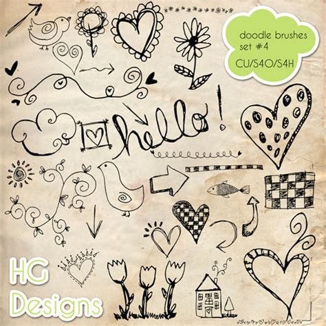 how to create a doodle in photoshop 30 scribbles and doodles photoshop brush sets bluefaqs