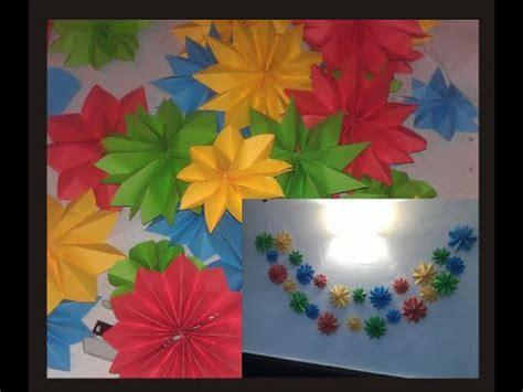 cadenas de flores de papel crepe guirnalda de flores de papel youtube