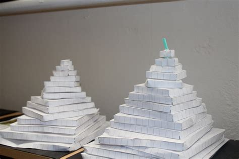 How To Make A Paper Pyramid 3d - mayan pyramids hethersett school hohs