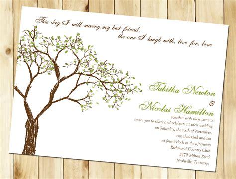 Wedding Invitations Tree by Wedding Invitation Wording Wedding Invitation Templates Tree