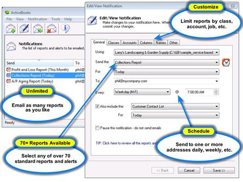 Automatically Email Quickbooks Reports by Activebooks Activebooks Automatically Emails Financial Reports From Quickbooks Software