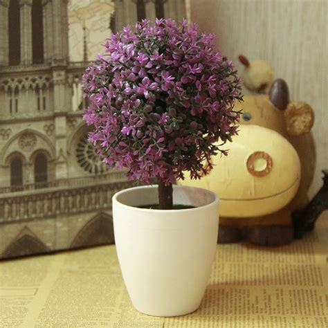 artificial plants home decor artificial topiary tree potted ball plants garden outdoor