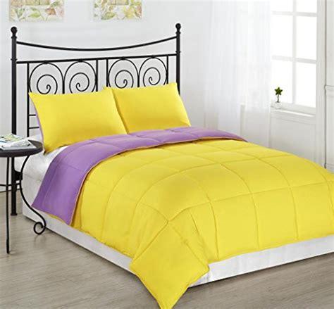 yellow comforters queen purple yellow bedding