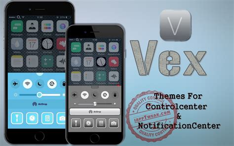 control center themes winterboard vex themes for control center notification center ios 8