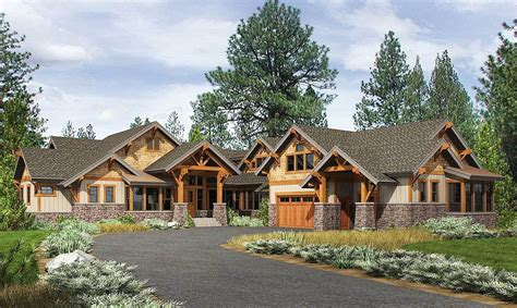 high end home plans high end mountain house plan with bunkroom 23610jd