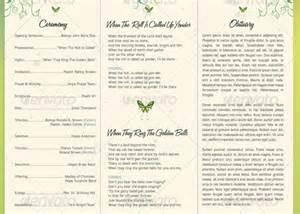 decorative tri fold funeral program godserv market