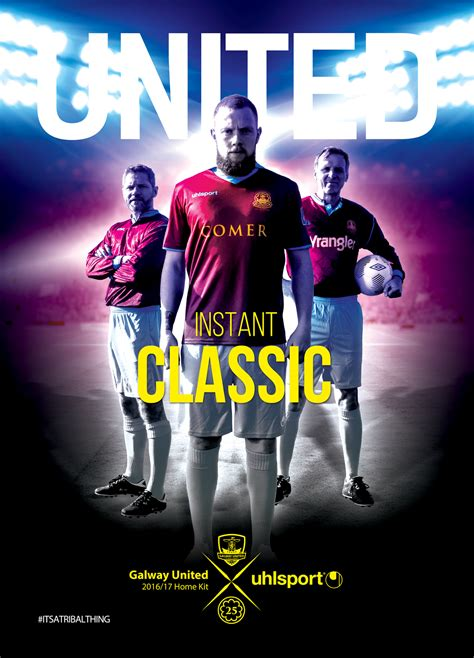 poster design galway galway united 2016 kit launch poster