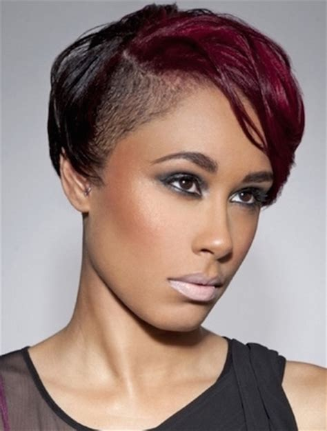 african american women hairstyle thats shaved on both side 20 hot and stylish short hairstyles for african american