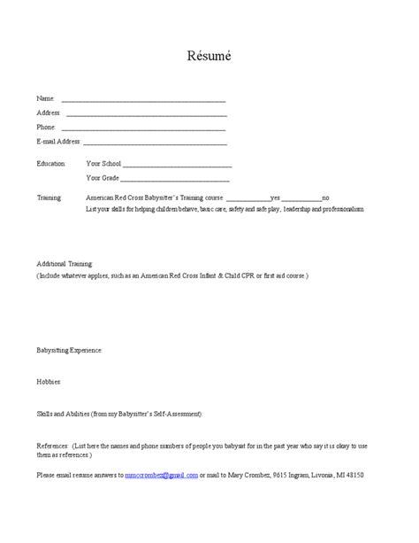 blank resume template free