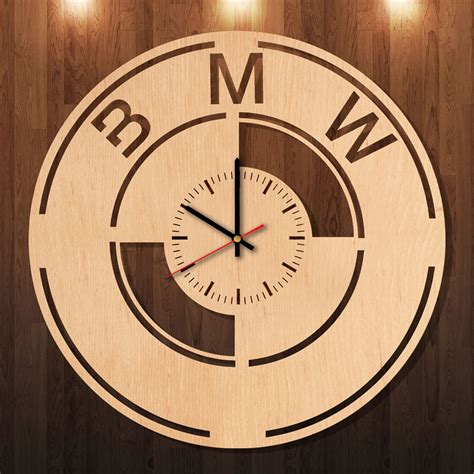 Handmade Wall Clocks - bmw lifestyle handmade wood wall clock