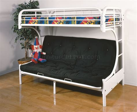 white futon bunk bed c style white finish contemporary twin futon bunk bed