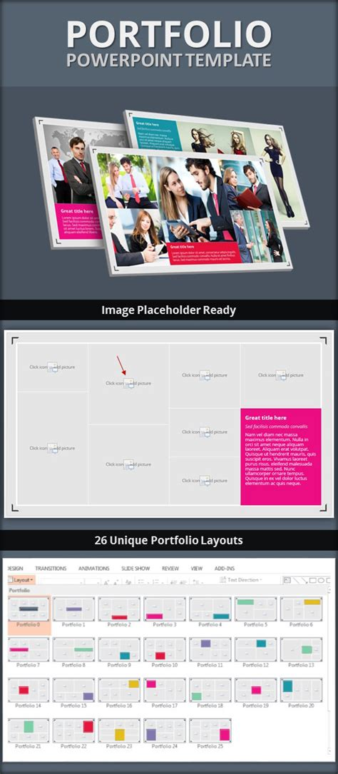 Portfolio Powerpoint Template By Pptx Graphicriver Powerpoint Portfolio Template