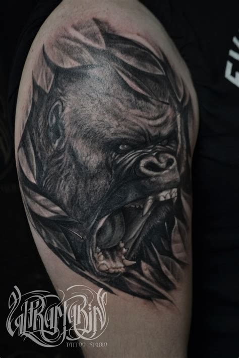 gorilla tattoo 32 best gorilla images on