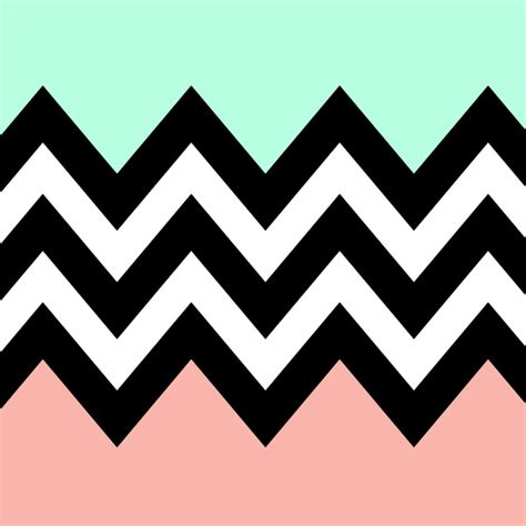 Mint Green And Coral Chevron Wallpaper