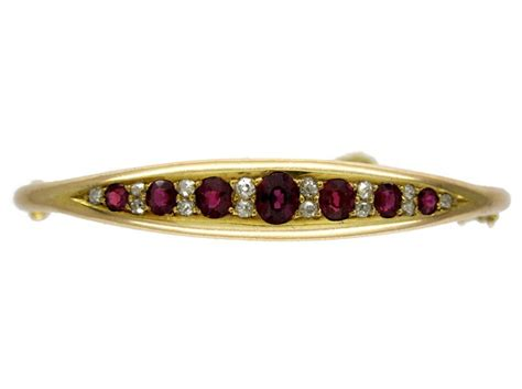 Ruby 5 15ct ruby 15ct gold bangle the antique jewellery