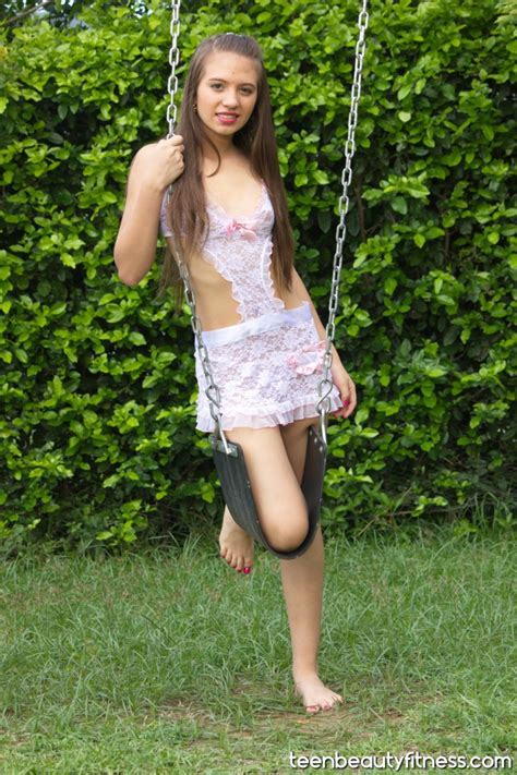 tbf bonus susana white embroidered babydoll teen beauty fitness