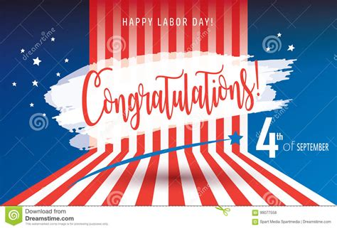 Happy Labor Day Weekend Vacation Time by Congratulations Happy Labor Day Stock Vector Image