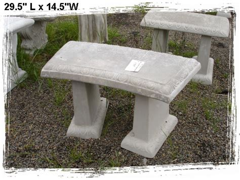 concrete garden bench concrete benches and tables little baja