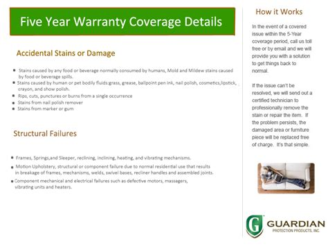 Guardian Furniture Protection by Warranties By Montage And Guardian Companies