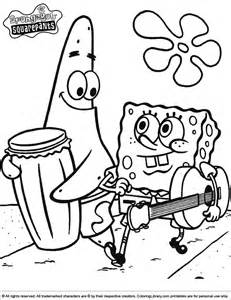 where the things are coloring pages spongebob coloring picture