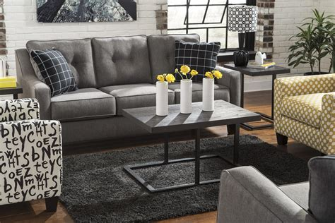 ashley brindon sofa review brindon contemporary sofa with track arms tufted back