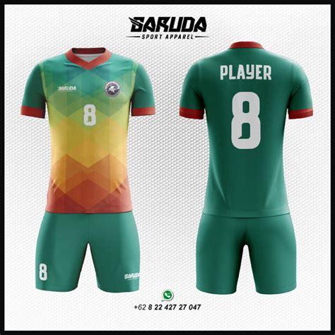 desain kaos futsal warna hijau desain baju futsal code 42 garuda print garuda print