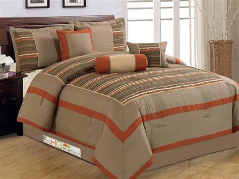 rust comforter set 7 pc desert canyon breeze chenille comforter set queen