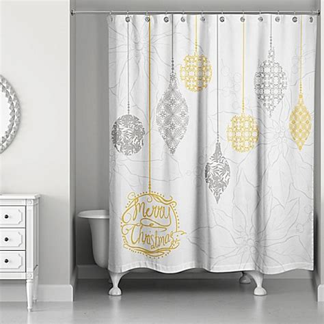 white and gold shower curtain ornaments shower curtain in white gold bed bath beyond