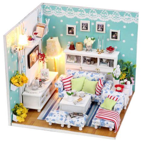 miniature doll house kits kits diy wood dollhouse miniature with furniture dolls house gift butterfly room ebay