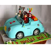 Tom &amp Jerry In A Car Cake  And Cakes Pinterest