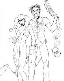 Harley Quinn And Joker Coloring Pages To  sketch template