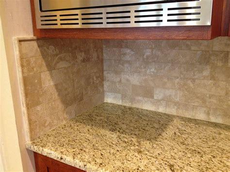 travertine subway tile backsplash ceramictec ta florida tile contractor