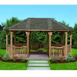 Costco Octagon Hardtop Gazebo by Fabulous Costco Cedar Gazebo Garden Landscape